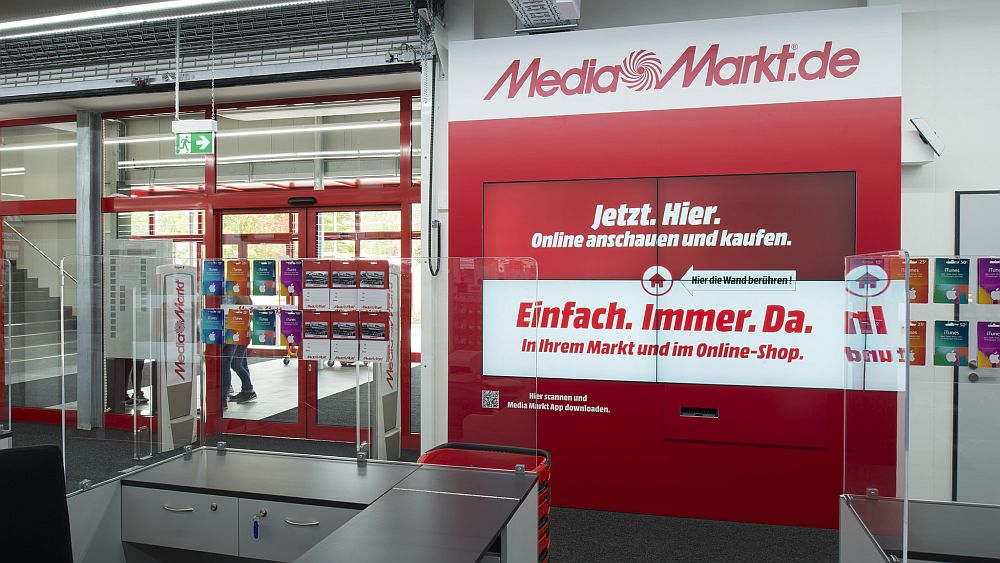 Media Markt: interaktive Shoppingwall (Foto: Media Saturn)
