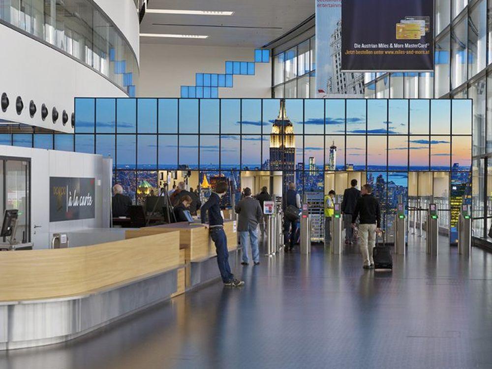 New York City-Megapixelbild am Airport Wien (Foto: Martin Acker/ Edition Lammerhuber)