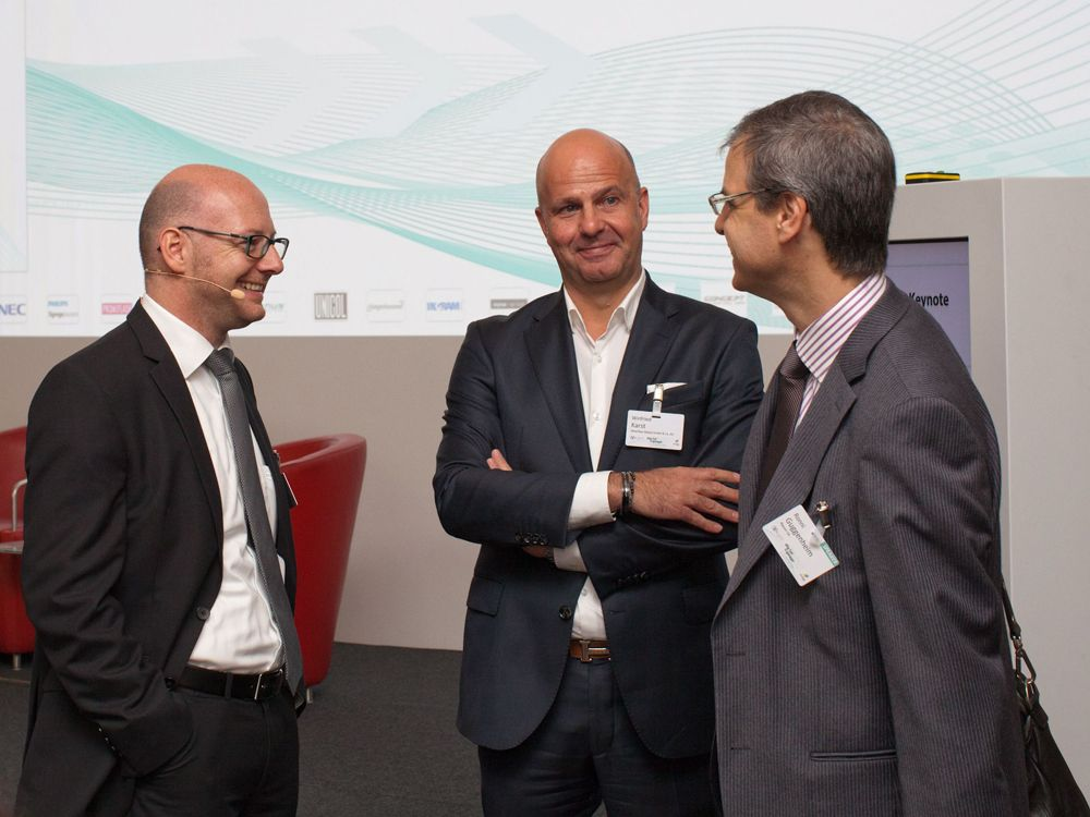 Networking at the OVAB Digital Signage Conference Munich 2014 (Image: ANNA OLIVIA WEIMER)