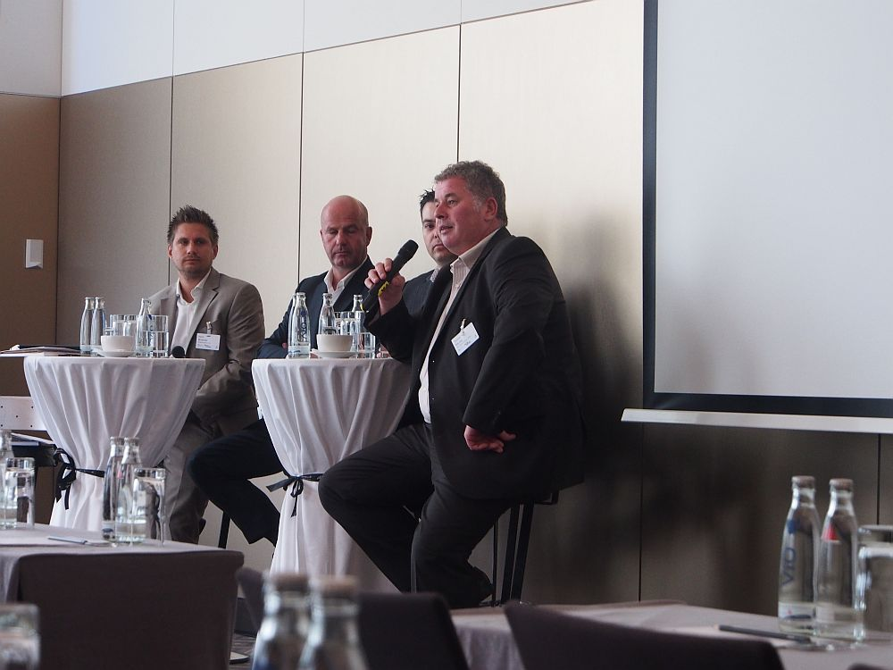 Panel Planning and Booking Platforms: Horst Brunner, Winfried Karst, Joe Cotugno und Thomas Muser (v.l.) (Foto: invidis.de)
