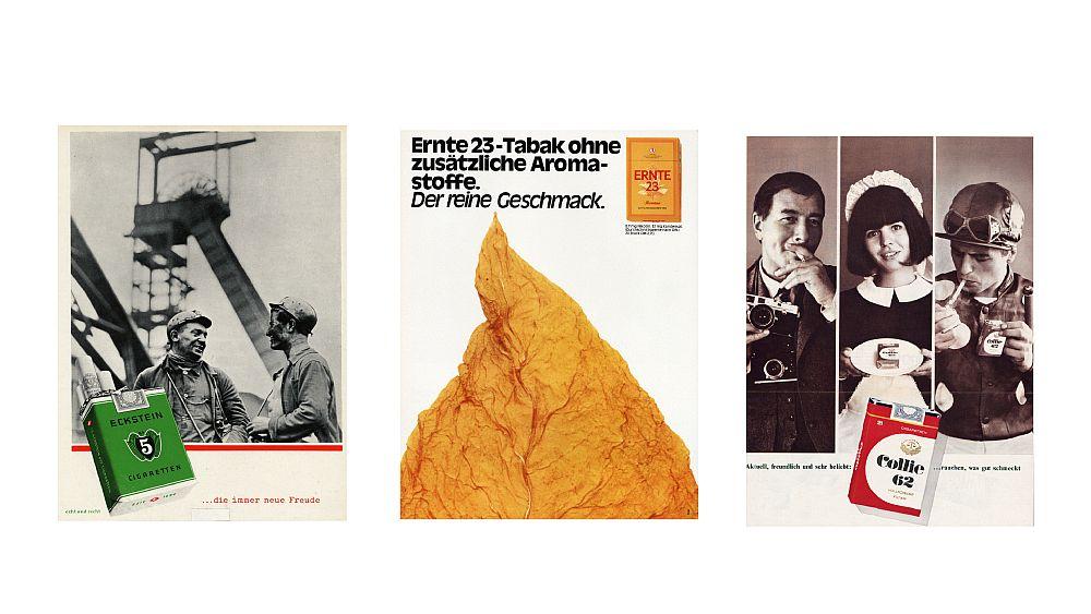 Plakatwerbung für Zigaretten
