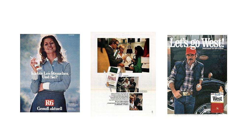 Printwerbung für Zigaretten (Fotos: Reemtsma)