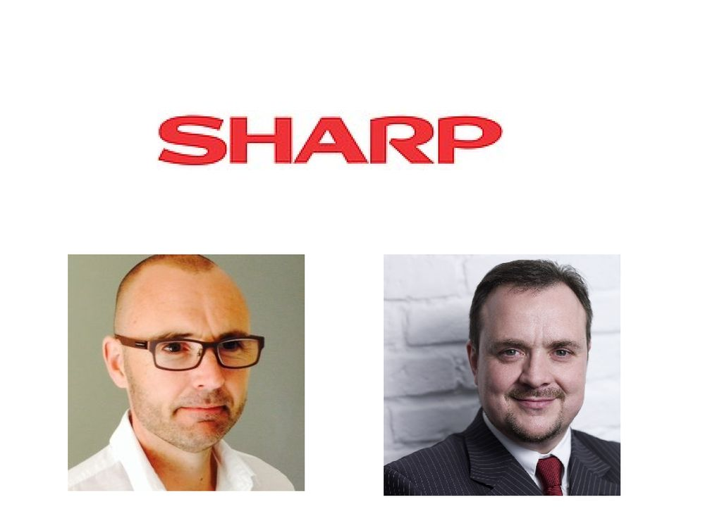 Jetzt bei Sharp Visual Solutions Europe: Sid Stanley (l.) und Michael Bailly (r.) (Foto: Sharp)