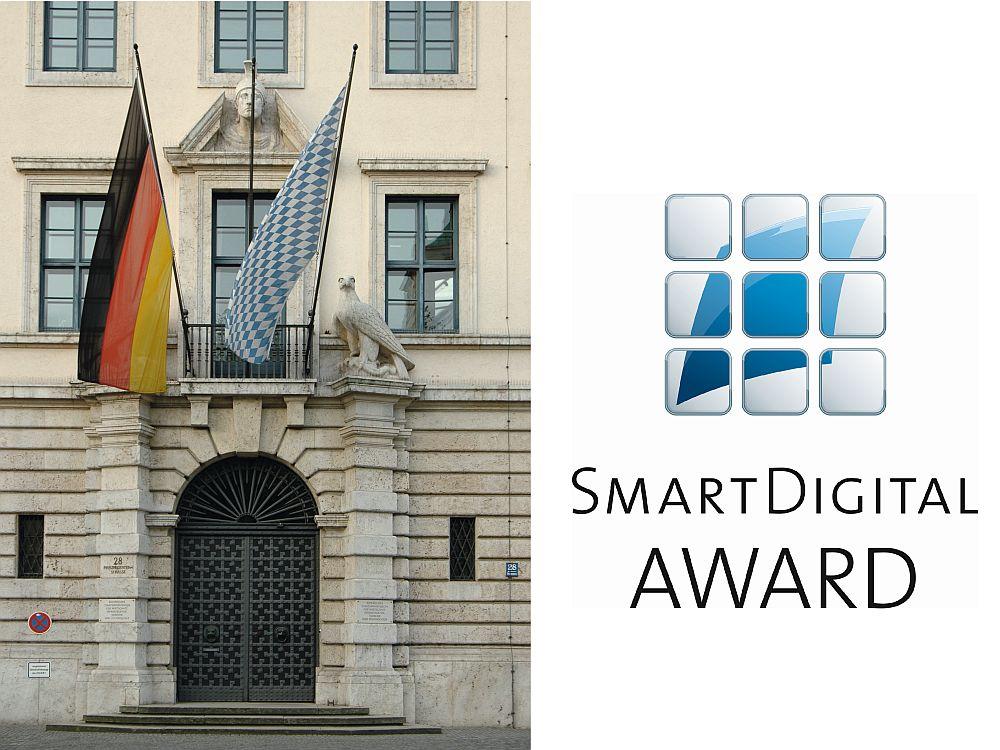 Das Ministerium (links) bleibt bayerisch, der Smart Digital Award richtet sich an alle Firmen (Foto, Grafik: Bayerisches Staatsministerium für Wirtschaft und Medien, Energie und Technologie)