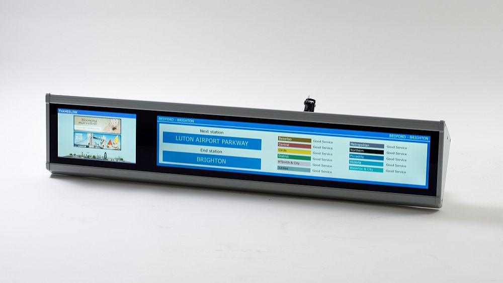 TFT-Display mit Informationen und Infotainment  (Foto: Televic Rail)