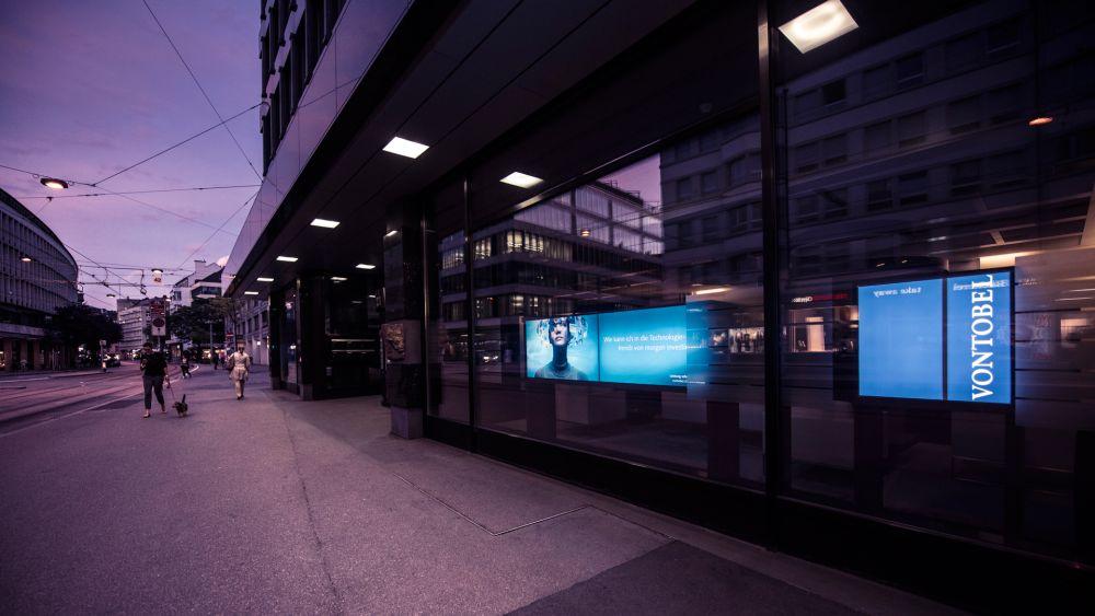Bankhaus von Vontobel in Zürich: Straßenfront (Foto: Westiform)
