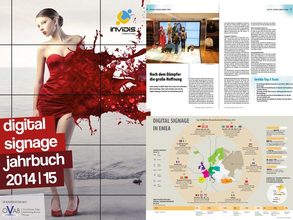 Ab sofort zum kostenlosen Download: das neue invidis Digital Signage Jahrbuch 2014/15