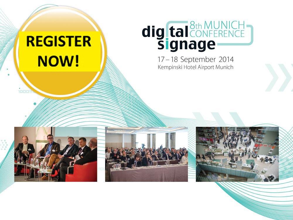 """Jetzt anmelden zur """"8. OVAB Digital Signage Conference Munich"""" (Bild: invidis)"""