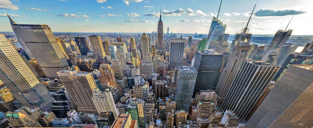 Teil des Mega-Bildes von Manhattan: Weitwinkel-Aufnahme am Nachmittag (Foto: Lois Lammerhuber/Martin Ackerl/Ars Electronica/ Austrian Airlines)