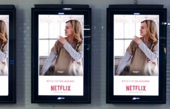 Netflix-Kampagne bringt Dynamik in DooH (Foto: Screenshot)