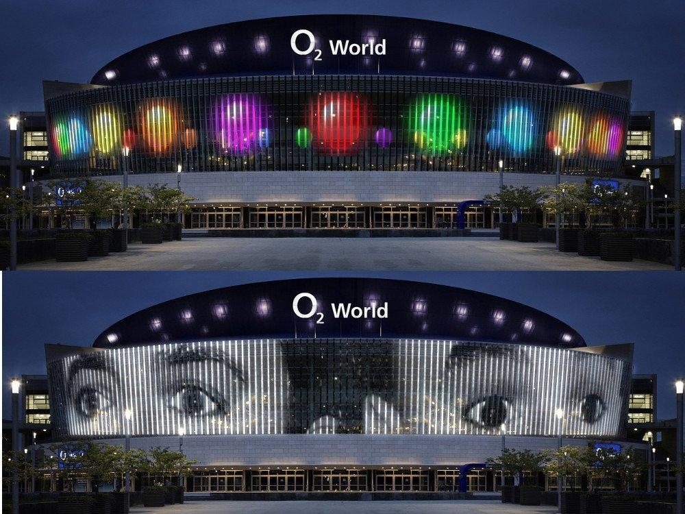 o2 Arena Berlin leuchtet (Foto: Wrench&Franks)