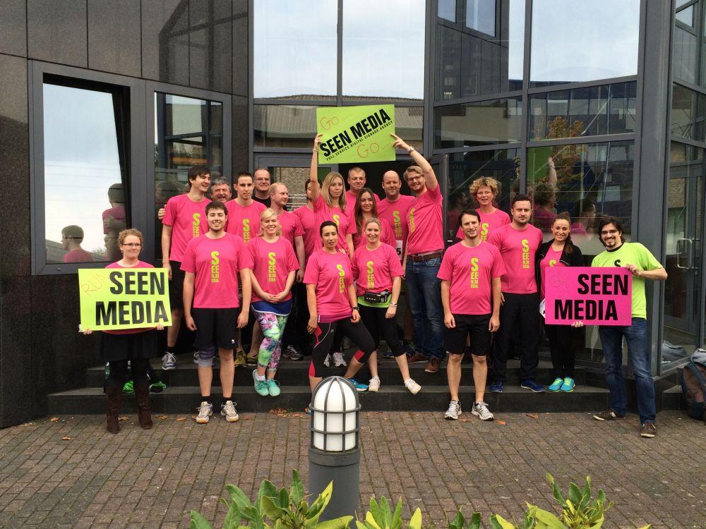 SeenMedia-Team vor dem 3. Aachener Firmenlauf (Foto: Seen Media)