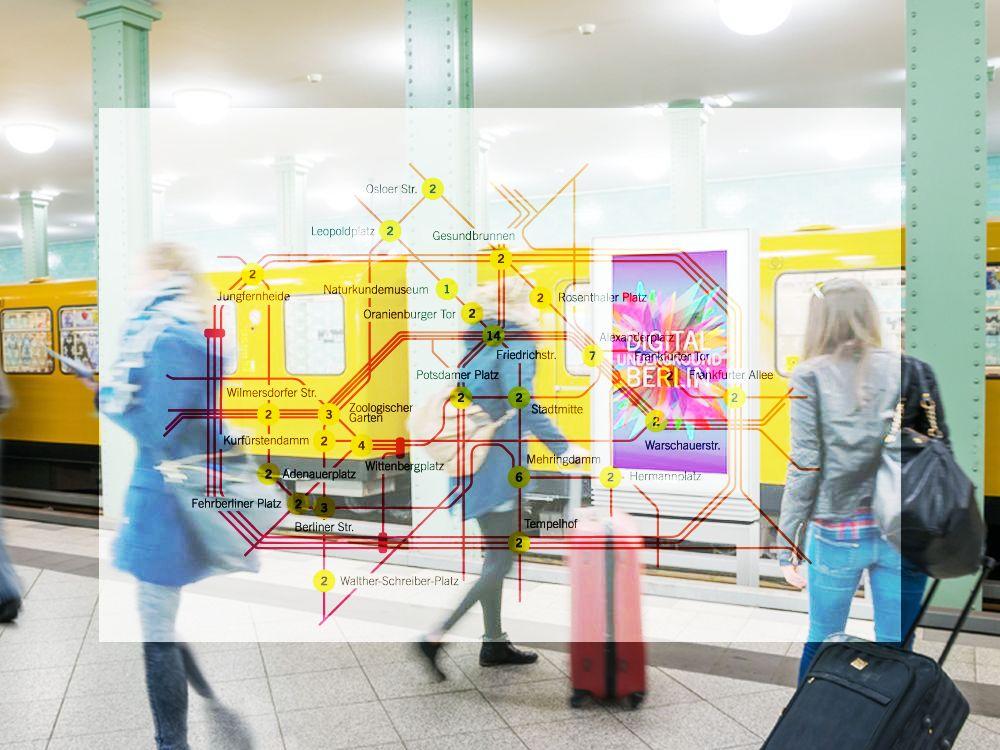 Das DUB-Netz legt sich über Berlin (Fotos: Wall AG; Collage: invidis.de)
