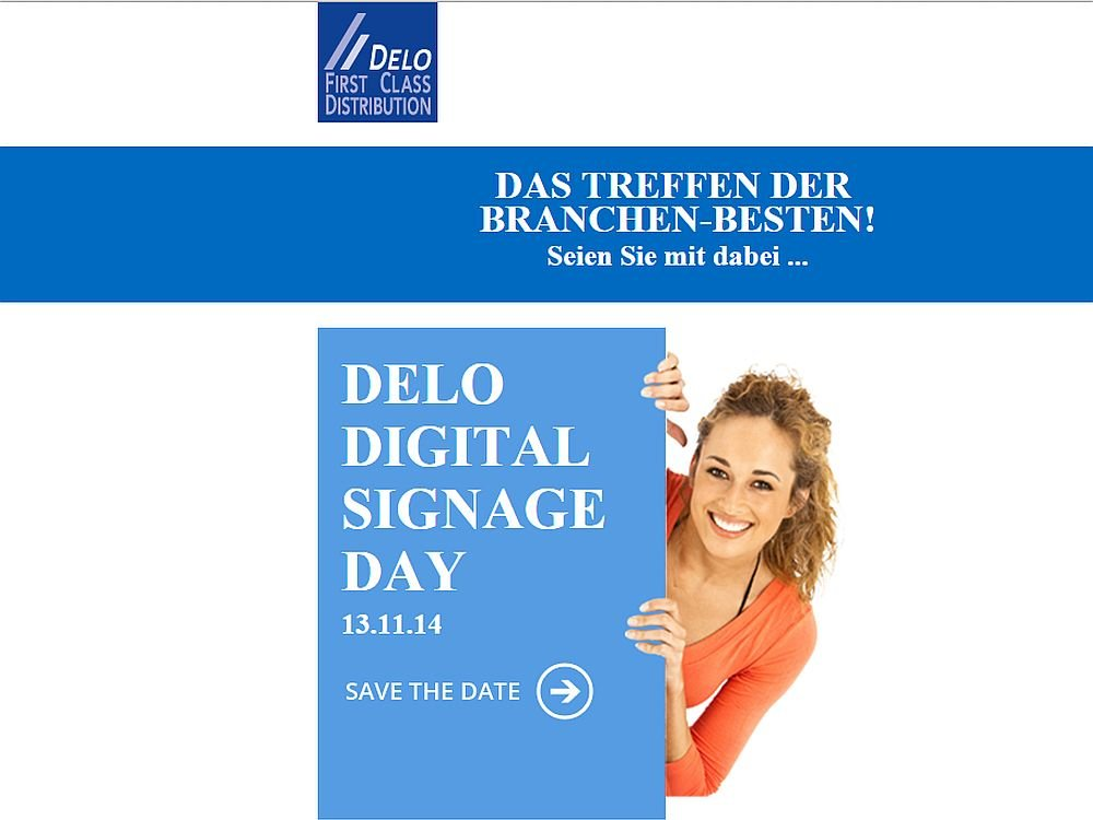 Delo Digital Signage Day 2014 (Screenshot: invidis.de)