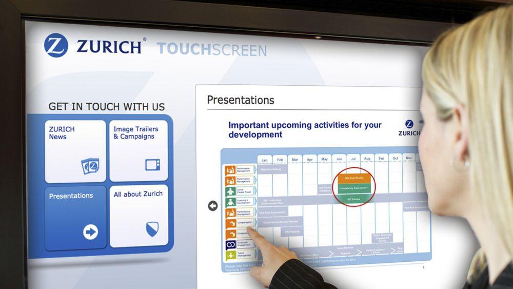 Digital Signage Best Practice Award 2014: SkyKey Zurich Insurance Company (Foto: Viscom)