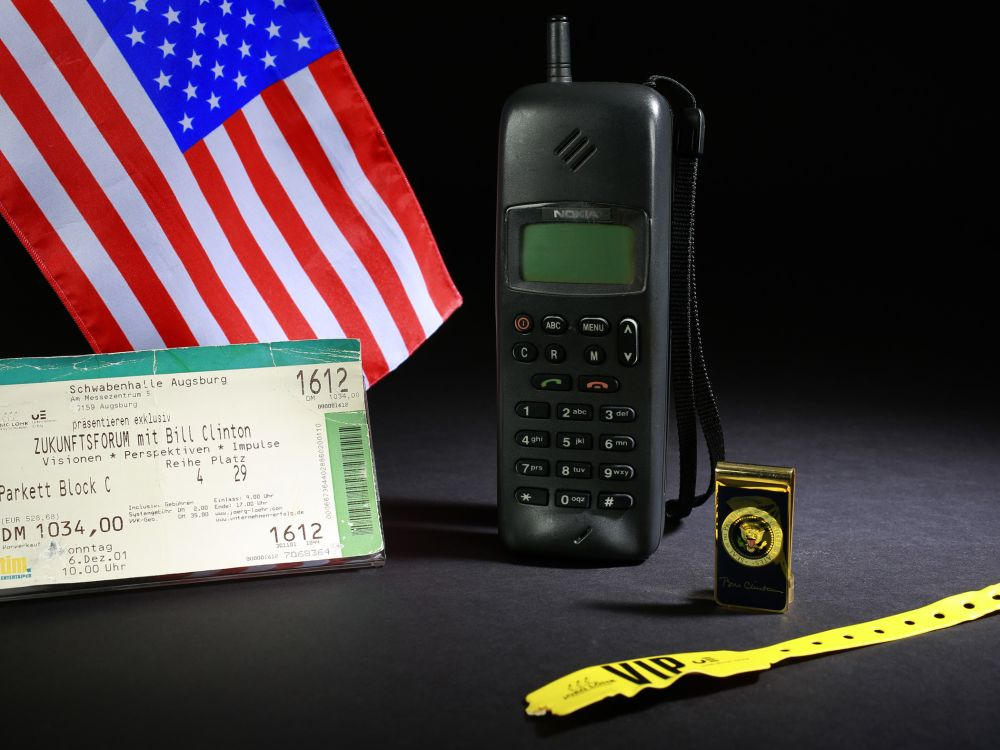 Ehemaliges Nokia-Handy von Bill Clinton (Foto: HNF)