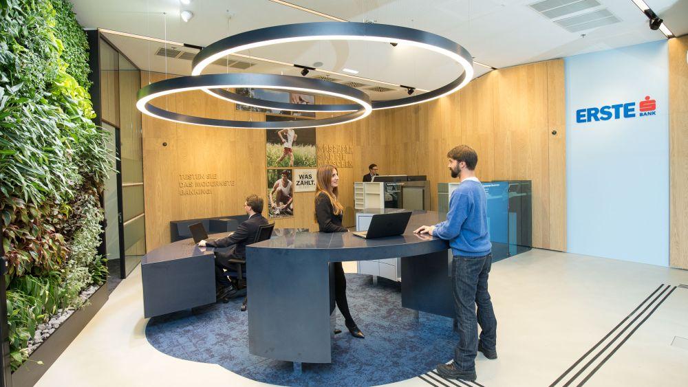 Erste Bank: Neue Filiale am Hbf Wien (Foto: Erste Bank)