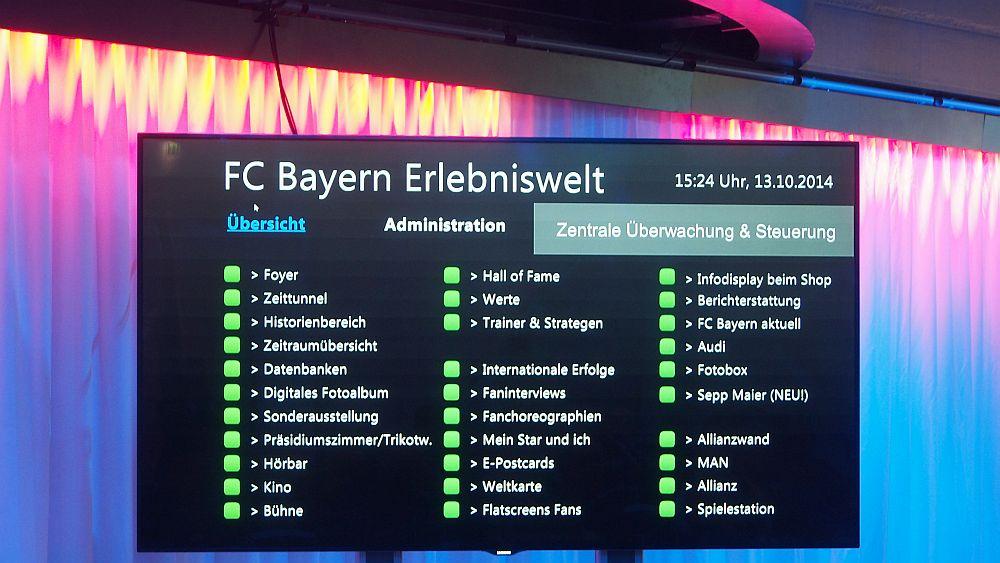 FC Bayern Erlebniswelt: Userinterface des Content Management Systems (Foto: invidis.de)