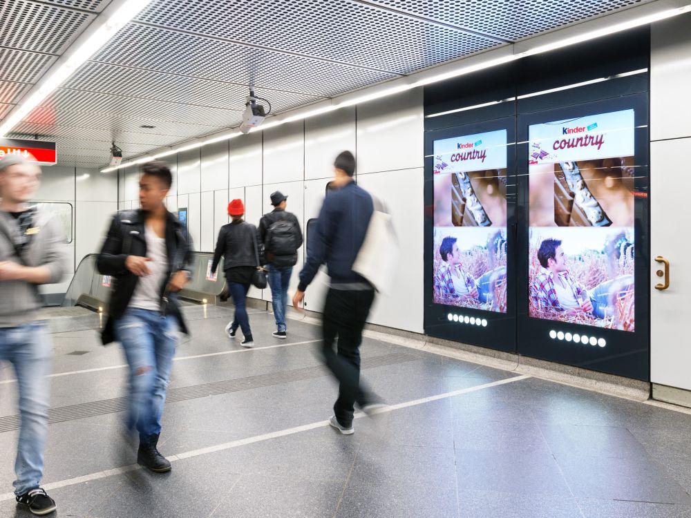 belegt alle Screens: Ferrero-Kampagne in Wien (Foto: Gewista)