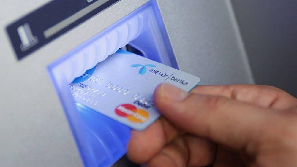 Geldautomat der neuen Telenor Banka (Foto: Telenor Banka)