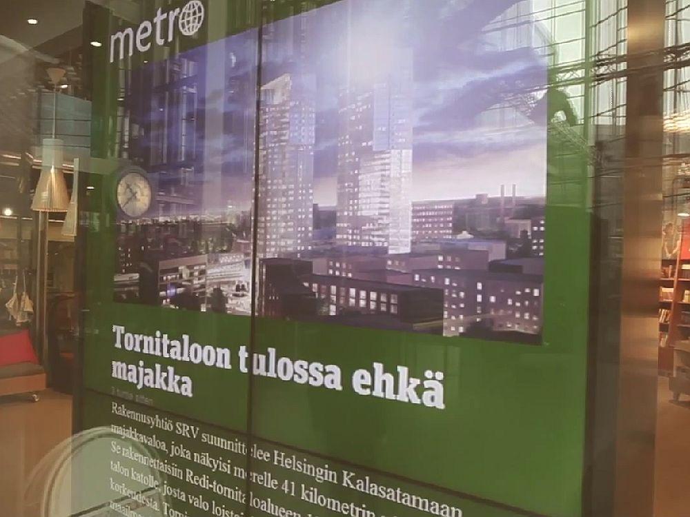 Installation mit Valotalive in einem finnischen Einkaufszentrum (Screenshot: invidis.de)