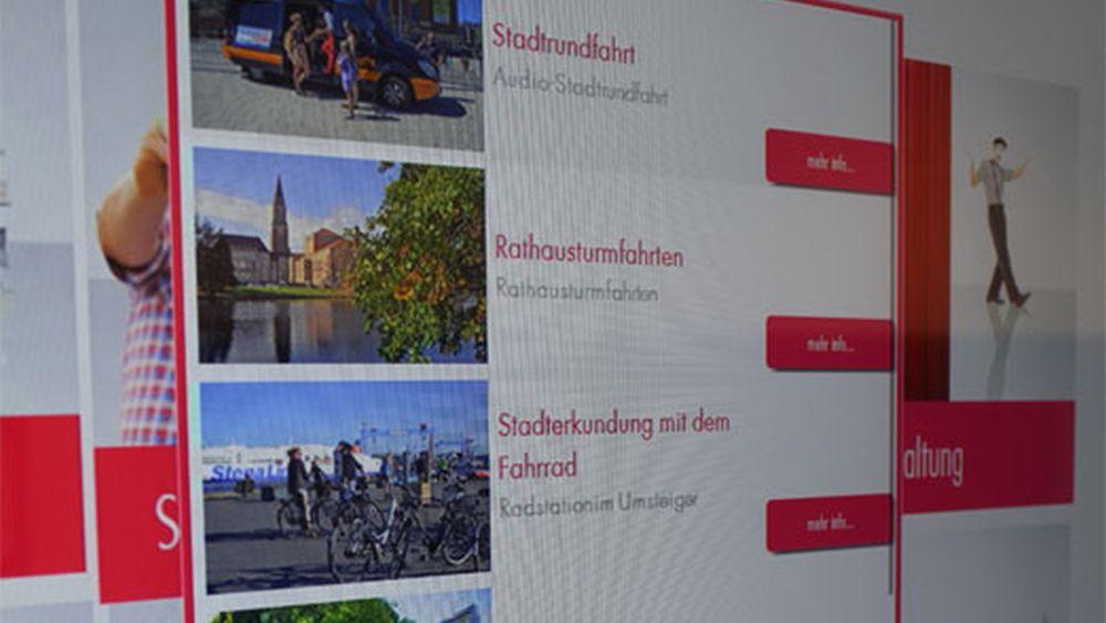 Menü des Virtuellen Concierge (Foto: m.i.b)