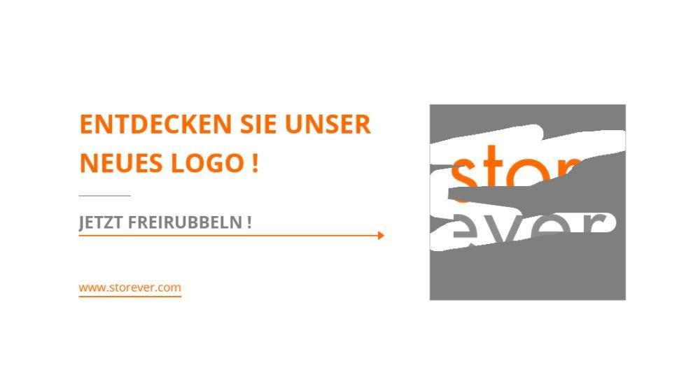 Wer auf die Music Matic-Website geht, muss das neue Logo von Storever freirubbeln (Screenshot: invidis.de)