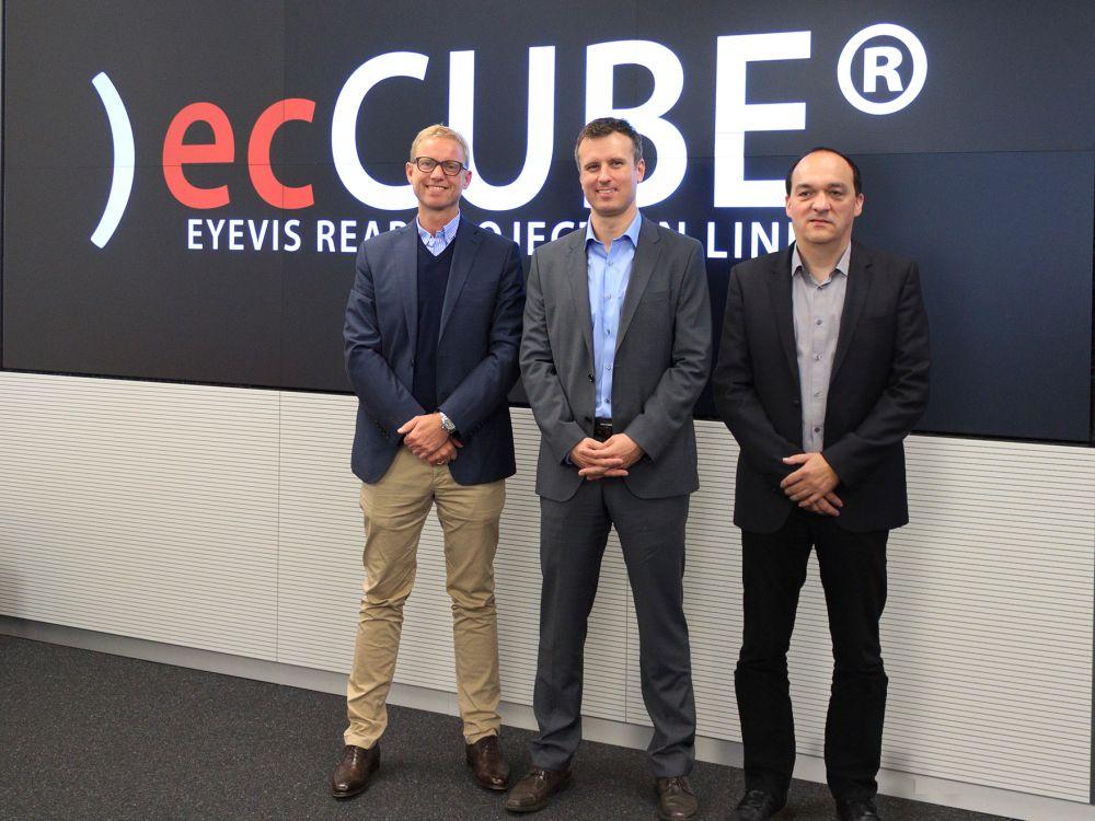 Neue Geschäftsführung der Eyevis Group (v.l.n.r.): Christian Massmann, Daniel Meindl und Heiko Schaich (Foto: Eyevis)
