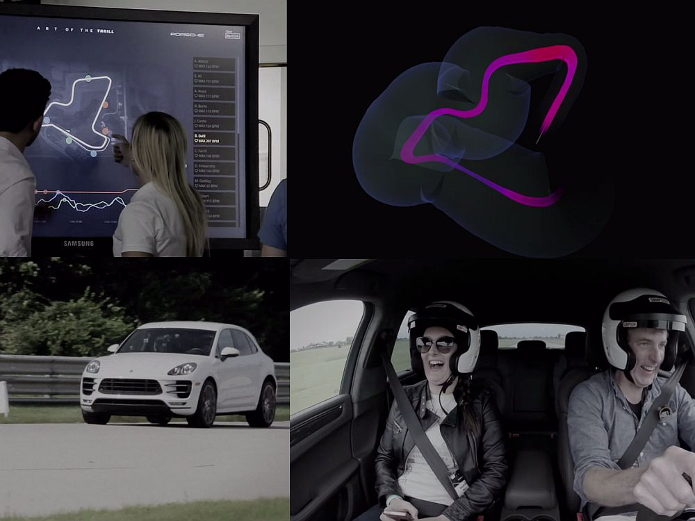 "Porsche-Aktion ""Art of the thrill"" (Screenshots/ Montage: invidis.de)"