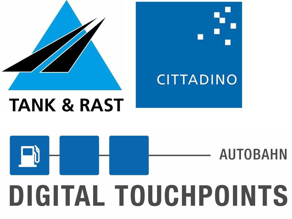 Tank & Rast und Cittadino vermarkten gemeinsam: Digital Touchpoints Autobahn (Grafiken: Cittadino / Montage: invidis)