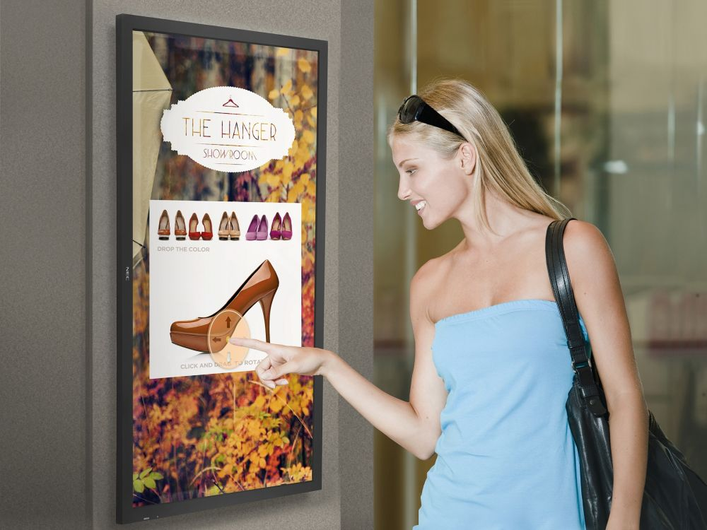 Touch-Display P463SST im Retail-Einsatz (Foto: NEC)
