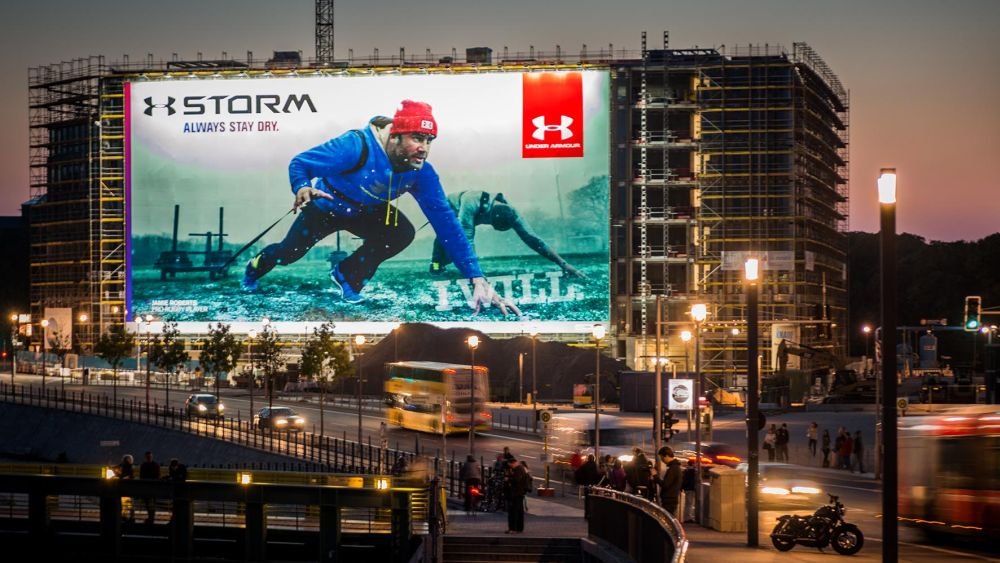 Under Armour-Megaposter am Berliner Hbf (Foto: Posterselect)