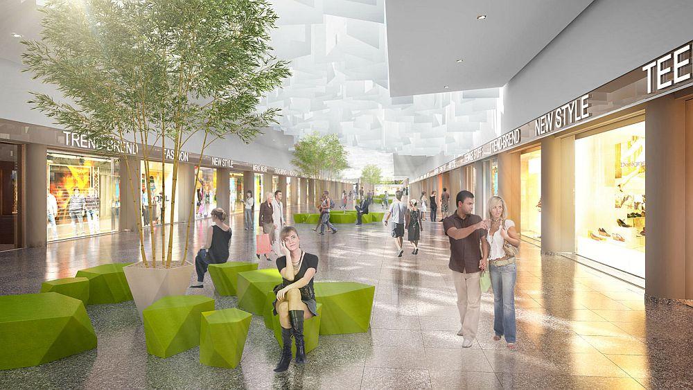 Ausgehfertig: Auch die Shopping Mall Weserpark hat sich nach Renovierung herausgeputzt (Rendering: Weserpark)
