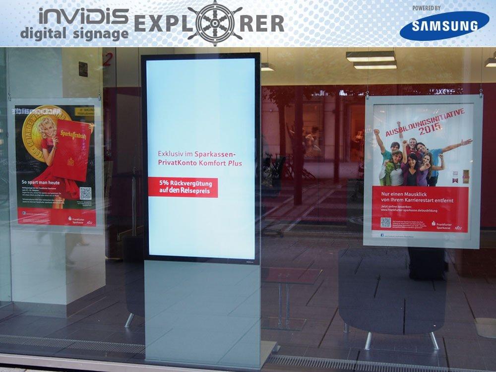 invidis Digital Signage Explorer – Frankfurter Sparkasse (Bild: invidis