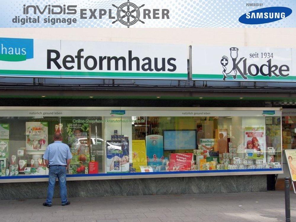 invidis Digital Signage Explorer – Kräuter- und Reformhaus Klocke Essen (Bild: invidis)