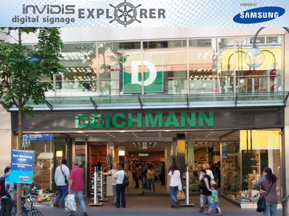 invidis digital signage explorer - Deichmann in Köln (Foto: invidis.de)