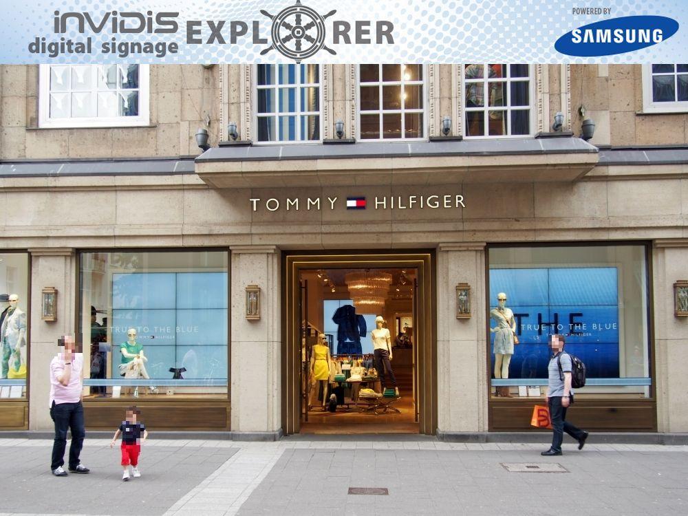 invidis digital signage explorer: Tommy Hilfinger in Düsseldorf (Grafik/ Foto: invidis.de)