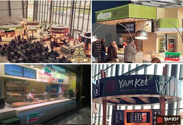 Sbarro and Yamkee at Vladivostok Airport / Vegas Mall Moscow (Photos: Planet Hospitality)