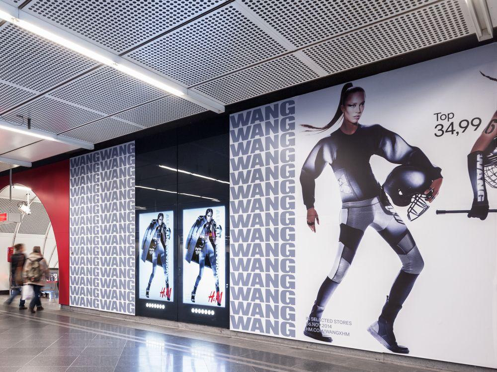 Aktuelle H&M-Kampagne am Stephansplatz (Foto: Gewista)