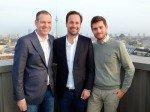 Andreas Prasse, Tom Laband und Sebastian Dörfel (v.l.n.r): Abschluss der Kooperation zwischen Wall und den Partnern (Foto: Wall)