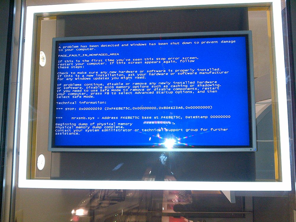 Blue Screen of Death Digital Signage (Foto: invidis.de)