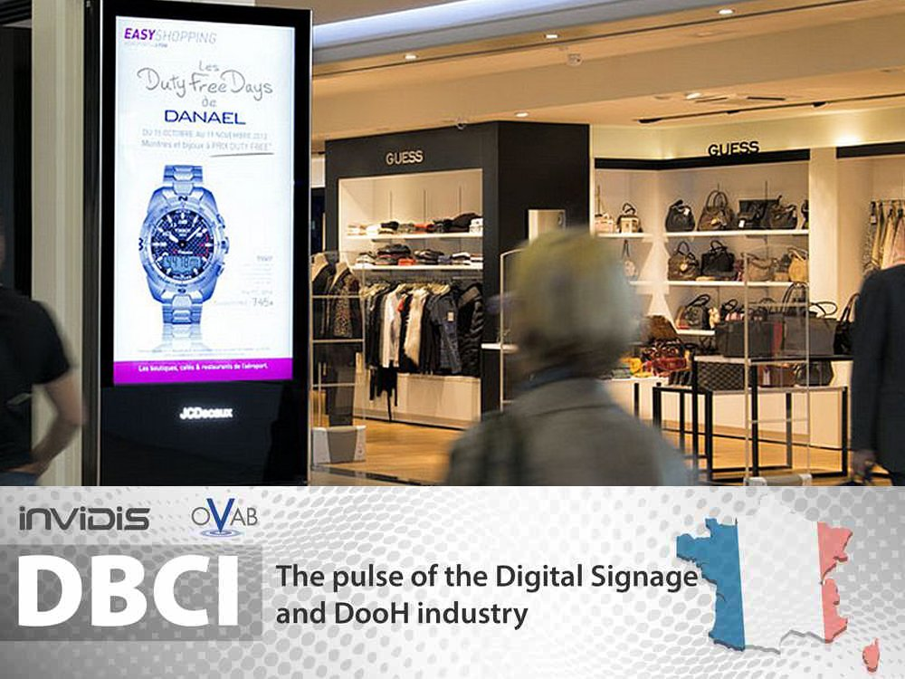 Digital signage in France (Image: JCDecaux)