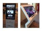 Hochkant und quer: Digital Signage-Stelen im Palais Vest (Fotos: dimedis)