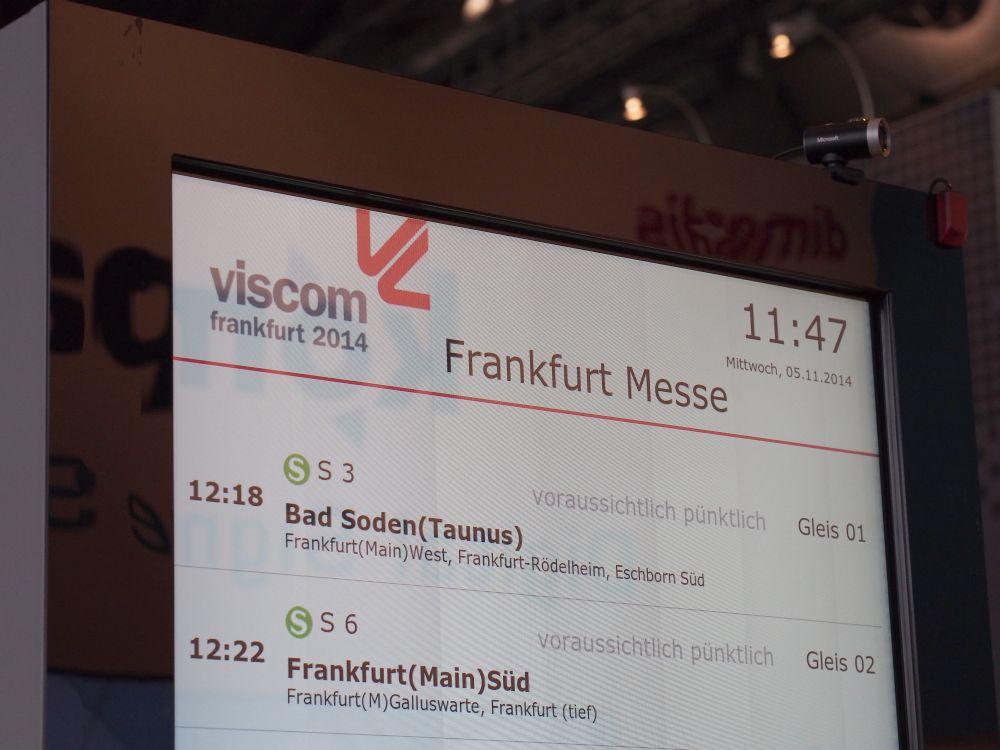 Dimedis Stele mit Kamera auf der Viscom (Foto: invidis.de)