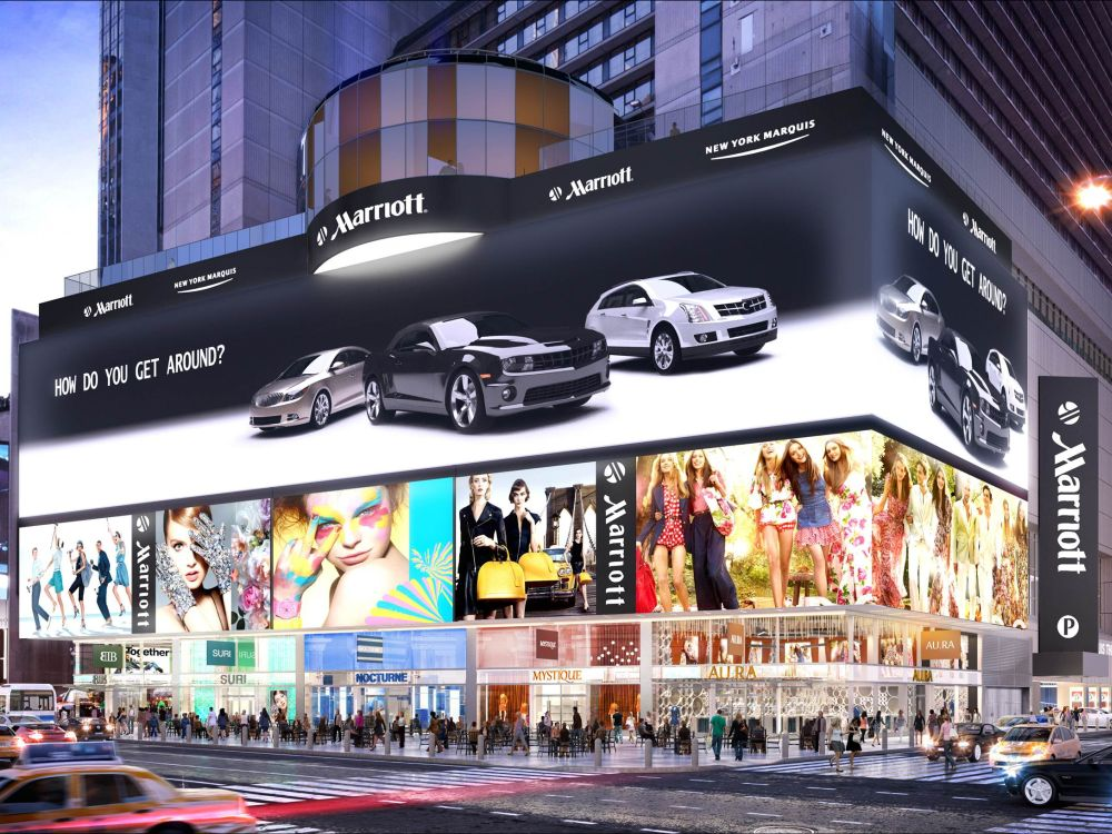 Größte hochauflösende LED Video Wall (Foto/ Rendering: Mitsubishi Electric)