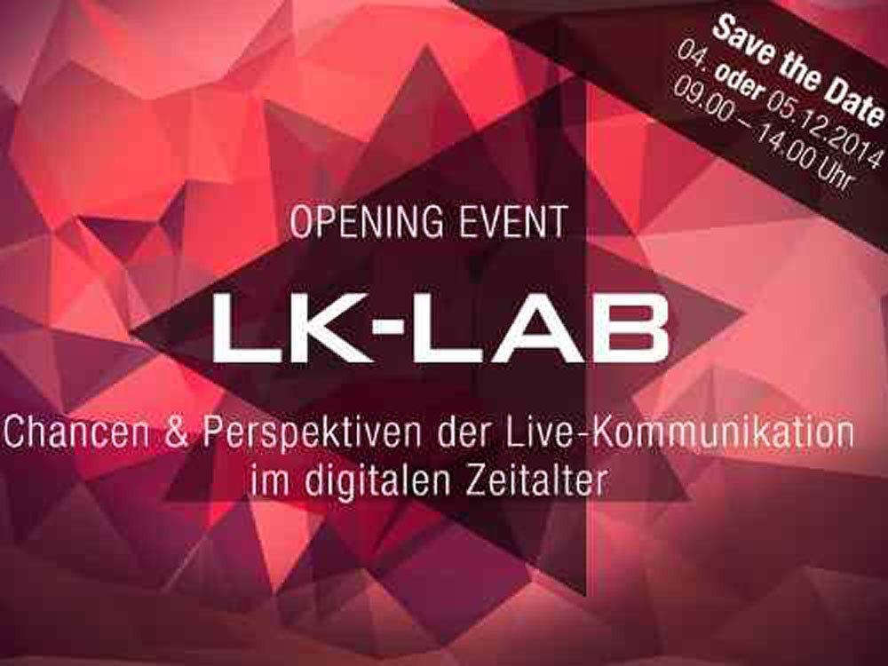 Opening Event LK-LAB am 4 oder 5. Dezember 2014 (Bild: LK-LAB)