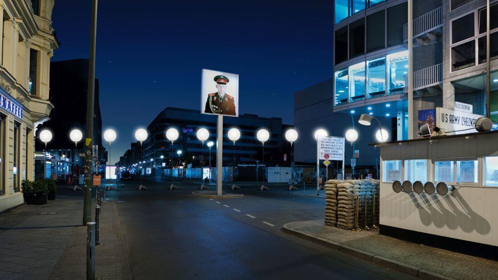 Lichtgrenze am Checkpoint Charlie (Foto: Daniel Büche)