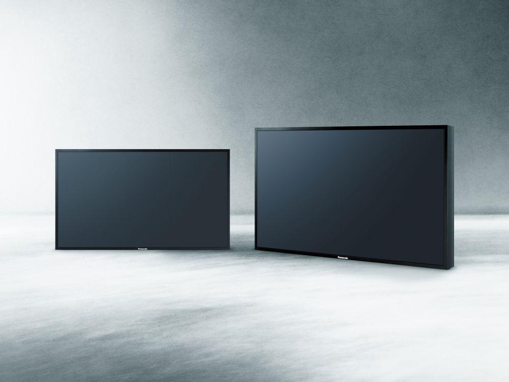 Panasonics neue Ultra HD-LFDs: 84-Zöller und 98-Zöller (Foto: Panasonic)
