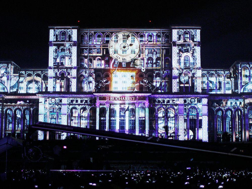 Projection Mapping zum 555-Jahr-Jubiläum von Bukarest (Foto: Siedemzero)