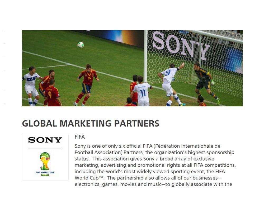 WM-Partnerschaft FIFA und Sony (Screenshot: invidis.de)